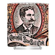 Cincinnati Baseball Shower Curtain by George Pedro