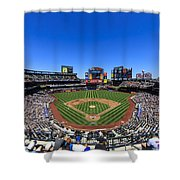 Citifield Shower Curtain by Rick Berk