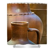Clay Pottery Shower Curtain by Carlos Caetano