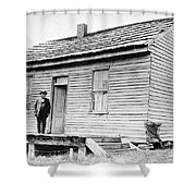 Clemens: Birthplace Shower Curtain by Granger