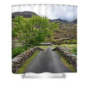 Climbers Lodge Shower Curtain by Adrian Evans
