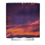 Clouds In Sky With Pink Glow Shower Curtain by Richard Wear