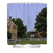 Clover Hill Tavern And Kitchen Appomattox Virginia Shower Curtain by Teresa Mucha