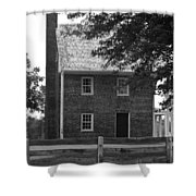 Clover Hill Tavern Guesthouse Bw Shower Curtain by Teresa Mucha