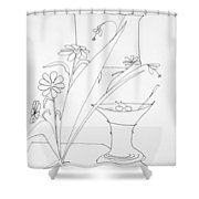 Cocktail Shower Curtain by Denny Casto