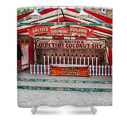 Coconut Shy Shower Curtain by Adrian Evans