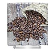 Coffee Beans Shower Curtain by Joana Kruse