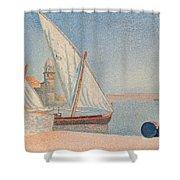 Collioure Les Balancelles Shower Curtain by Paul Signac