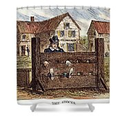 Colonial Stocks Shower Curtain by Granger