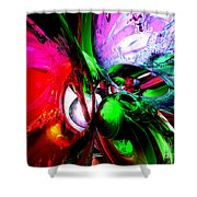 Color Carnival Abstract Shower Curtain by Alexander Butler