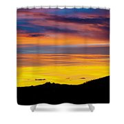 Colorado Sunrise -vertical Shower Curtain by Beth Riser