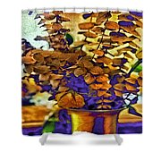 Colored Memories Shower Curtain by Madeline Ellis