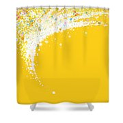 Colorful Curved Shower Curtain by Setsiri Silapasuwanchai