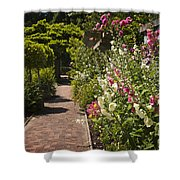 Colorful Flower Garden Shower Curtain by Elena Elisseeva