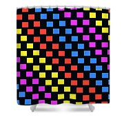 Colorful Squares Shower Curtain by Louisa Knight