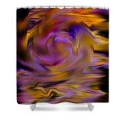 Colourful Swirl Shower Curtain by Hakon Soreide