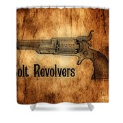 Colt Revolvers Shower Curtain by Cheryl Young