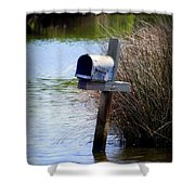 Come Rain Or Shine Or Boat Shower Curtain by Karen Wiles