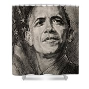 Commander-in-chief Shower Curtain by Ylli Haruni