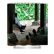 Communing With The Birds Shower Curtain by Steve Taylor