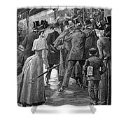 Commuter Rush Hour, 1890 Shower Curtain by Granger