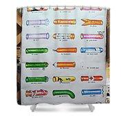 Condom Compendium Sign Thaiiland Shower Curtain by Sally Weigand