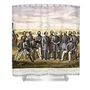 Confederate Generals Shower Curtain by Granger