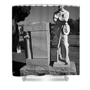 Confederate Soldier Memorial Shower Curtain by Kathy Clark