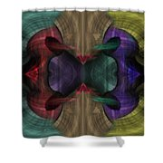 Conjoint - Multicolor Shower Curtain by Christopher Gaston