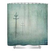 Connenction Shower Curtain by Priska Wettstein