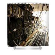 Container Delivery System Bundles Drop Shower Curtain by Stocktrek Images