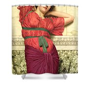 Contemplation Shower Curtain by John William Godward