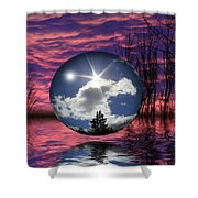 Contrasting Skies Shower Curtain by Shane Bechler
