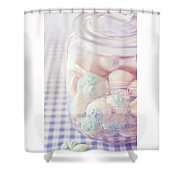 Cookie Jar Shower Curtain by Priska Wettstein