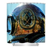 Copper Head Shower Curtain by Rene Triay Photography
