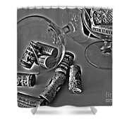 Corks 3 Shower Curtain by Cheryl Young
