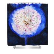 Cosmic Bloom Shower Curtain by Tara Thelen