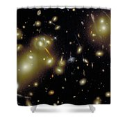 Cosmic Magnifying Glass Shower Curtain by STScI/NASA/Science Source