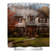 Cottage - Westfield Nj - The Country Life Shower Curtain by Mike Savad