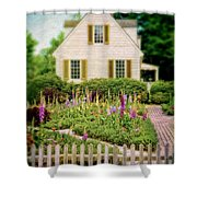 Cottage And Garden Shower Curtain by Jill Battaglia