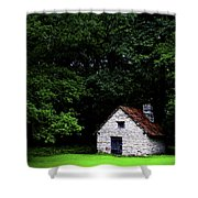 Cottage In The Woods Shower Curtain by Fabrizio Troiani
