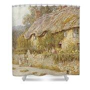 Cottage Near Wells Somerset Shower Curtain by Helen Allingham