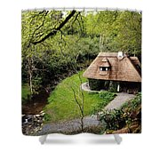 Cottage Ornee Tearoom, Kilfane Glen, Co Shower Curtain by The Irish Image Collection