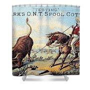 Cotton Thread Trade Card Shower Curtain by Granger