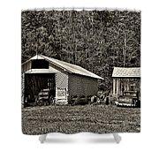Country Life Sepia Shower Curtain by Steve Harrington