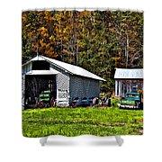 Country Life Shower Curtain by Steve Harrington