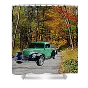 Country Roads Shower Curtain by Cheryl Young