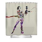 Couple Dancing Shower Curtain by Naxart Studio