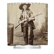 Cowboy, 1880s Shower Curtain by Granger
