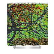 Crabapples West Acid Pop Shower Curtain by Feile Case